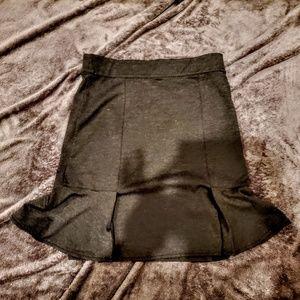 Dark Grey Pencil/Peplum Skirt